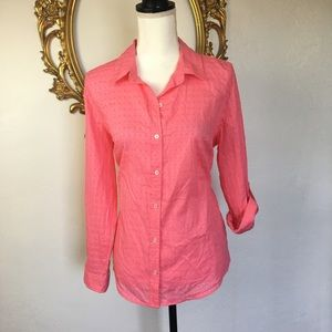 NWT Charter Club Coral Button Down Shirt Size 12P
